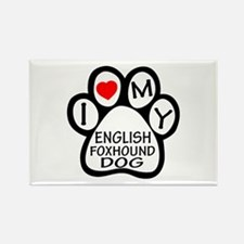 I Love My English Foxho Rectangle Magnet (10 pack)