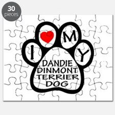 I Love My Dandie Dinmont Terrier Dog Puzzle