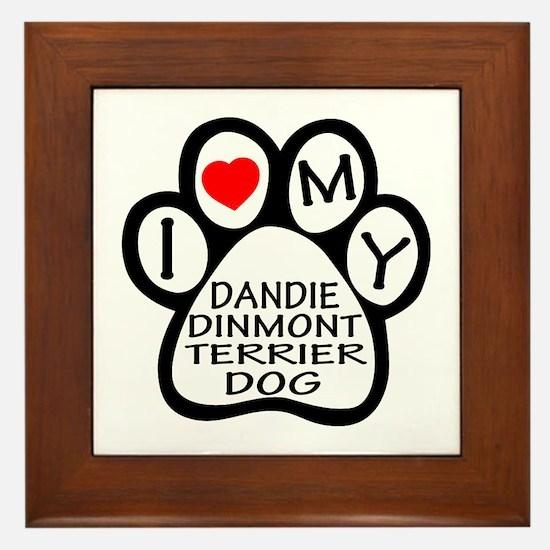 I Love My Dandie Dinmont Terrier Dog Framed Tile