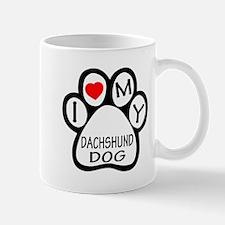 I Love My Dachshund Dog Mug