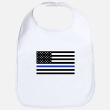 Cute Sheriff thin blue line Bib