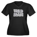 Wild Man Women's Plus Size V-Neck Dark T-Shirt