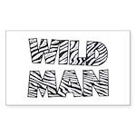 Wild Man Rectangle Sticker