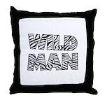 Wild Man Throw Pillow