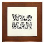 Wild Man Framed Tile
