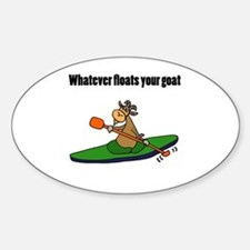Cute Cartoon goat Sticker (Oval)
