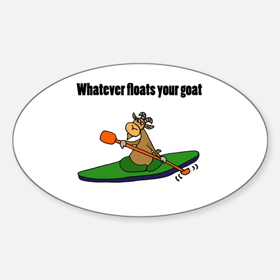 Cute Kayak cartoons Sticker (Oval)