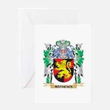 Mathews Coat of Arms - Family Crest Greeting Cards
