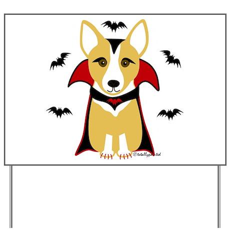 Count Corgi - Vampire Yard Sign