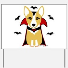 Count Corgi - Vampire Yard Sign