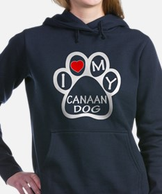 I Love My Canaan Dog Women's Hooded Sweatshirt
