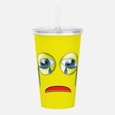 Sad Emoji Acrylic Double-wall Tumbler