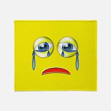 Sad Emoji Throw Blanket