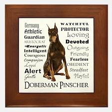 Doberman Traits Framed Tile