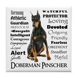 Doberman Tile Coasters