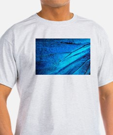 Exotic Blue Butterfly Wing Macro T-Shirt