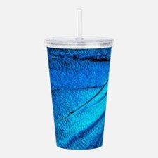 Exotic Blue Butterfly Acrylic Double-wall Tumbler