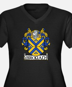Brogan Coat of Arms Women's Plus Size V-Neck Dark