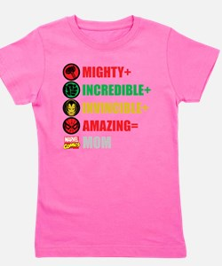 Marvel Mom Personalized Girl's Tee