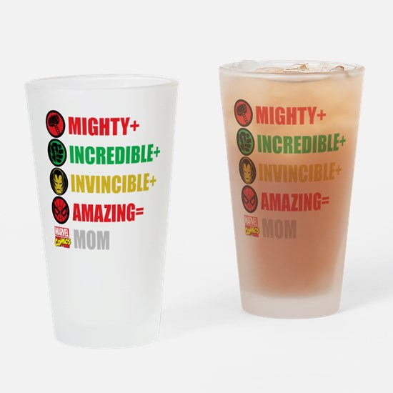 Marvel Mom Personalized Drinking Glass
