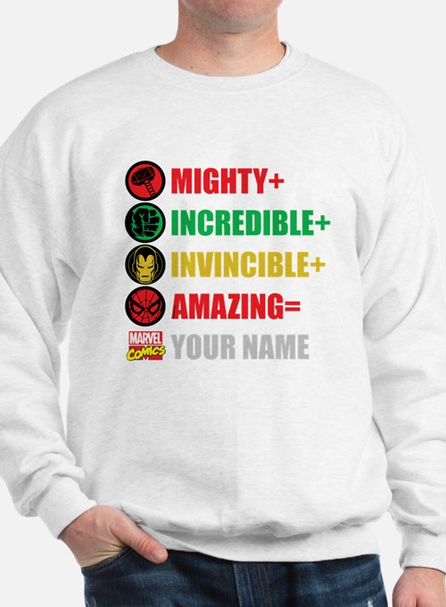 Mighty Incredible Invincible Amazing Pe Sweatshirt