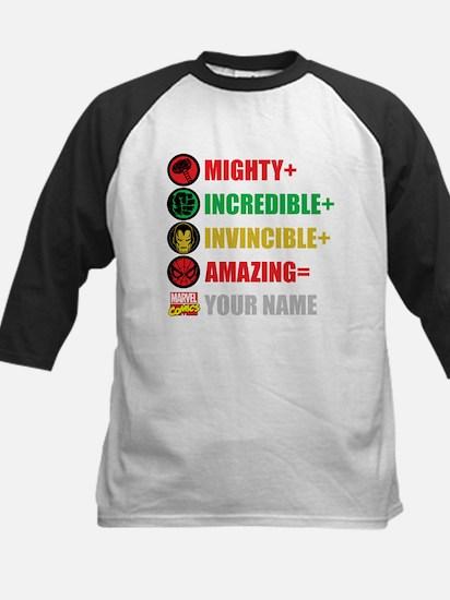 Mighty Incredible Invincible Kids Baseball Jersey