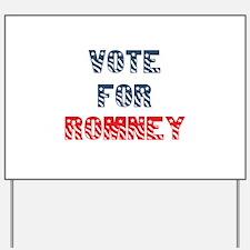 Vote For ROMNEY Yard Sign