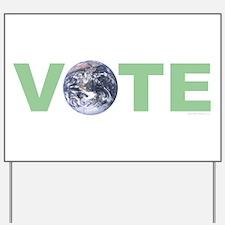 Vote Green Yard Sign