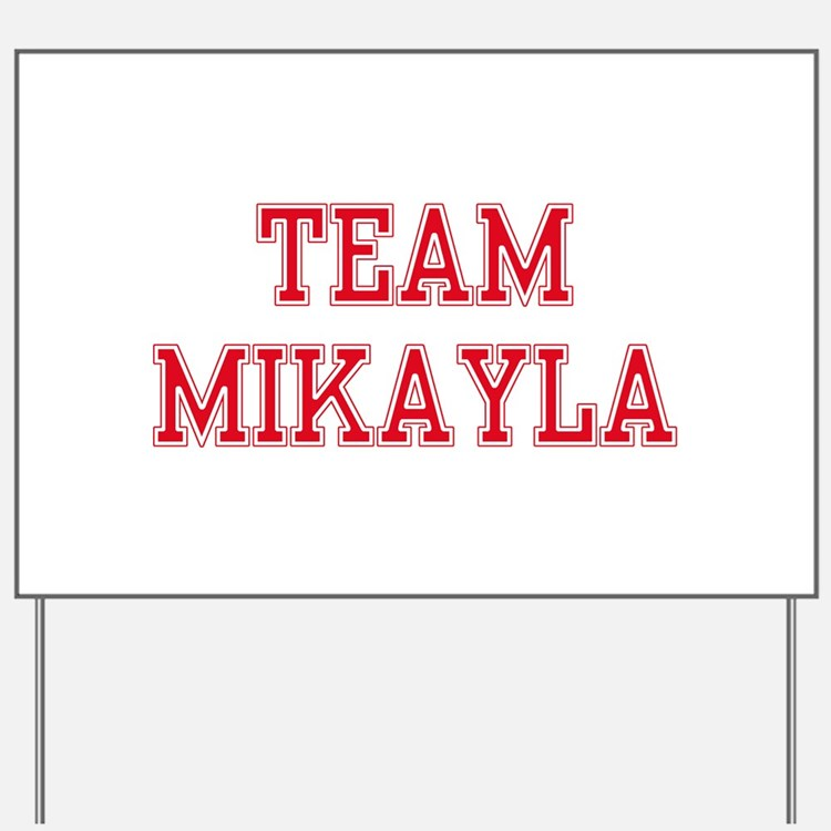 TEAM MIKAYLA  Women and apos;s Pink T-Shirt Yard S