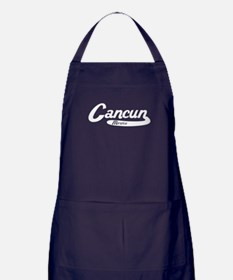 Cancun Mexico Vintage Logo Apron (dark)