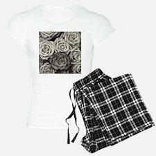 Black and White Rose Bouque Pajamas