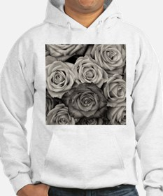 Black and White Rose Bouquet Hoodie