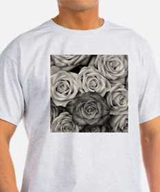 Black and White Rose Bouquet T-Shirt