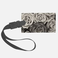 Black and White Rose Bouquet Luggage Tag