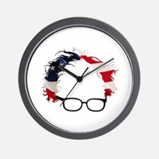 Bernie Flag Hair Wall Clock
