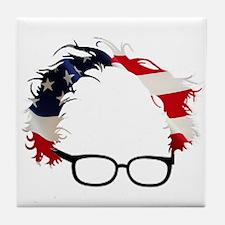 Bernie Flag Hair Tile Coaster
