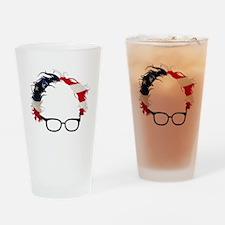 Bernie Flag Hair Drinking Glass