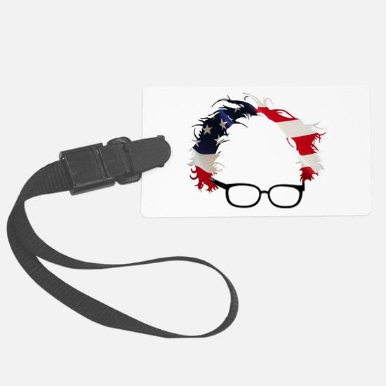 Bernie Flag Hair Luggage Tag