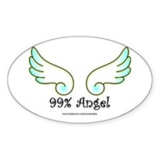 99% Angel Oval Decal