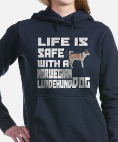 Life Is Safe With A Norw Women's Hooded Sweatshirt