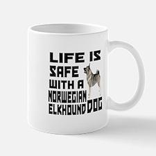 Life Is Safe With Norwegian Elkhound Mug
