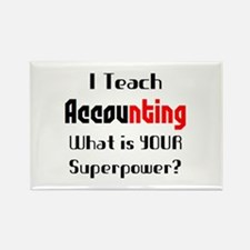 teach accounting Rectangle Magnet