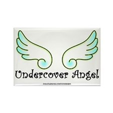 Undercover Angel Rectangle Magnet
