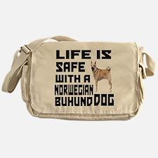 Life Is Safe With A Norwegian Buhund Messenger Bag