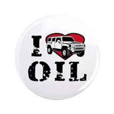 """I Love Oil 3.5"""" Button (100 pack)"""