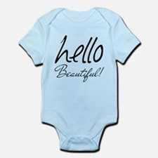 Gifts for Her Hello Beautiful Blac Infant Bodysuit