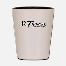 St Thomas Virgin Islands Vintage Logo Shot Glass