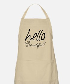 Gifts for Her Hello Beautiful Black Apron