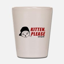 Kitten Please Keanu Shot Glass