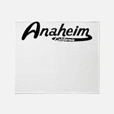 Anaheim California Vintage Logo Throw Blanket
